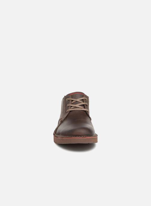 Schnürschuhe Clarks Vargo Plain braun schuhe getragen