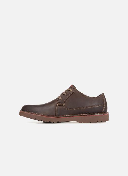 Zapatos con cordones Clarks Vargo Plain Marrón vista de frente