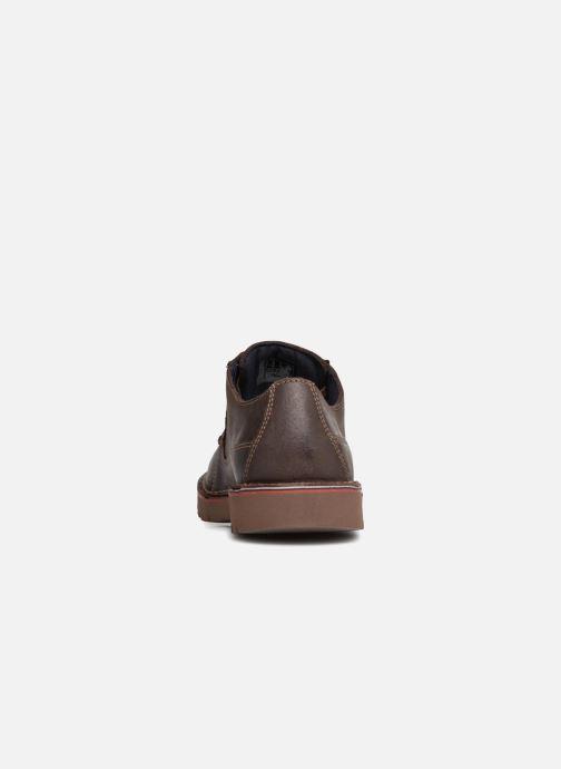 Zapatos con cordones Clarks Vargo Plain Marrón vista lateral derecha