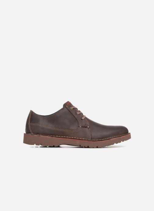 Chaussures à lacets Clarks Vargo Plain Marron vue derrière