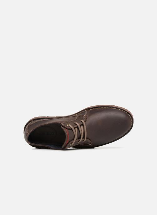 Zapatos con cordones Clarks Vargo Plain Marrón vista lateral izquierda