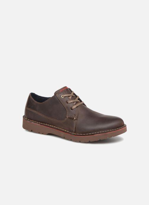 Zapatos con cordones Clarks Vargo Plain Marrón vista de detalle / par