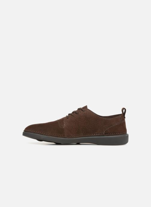 Trainers Clarks Hale Lace Brown front view