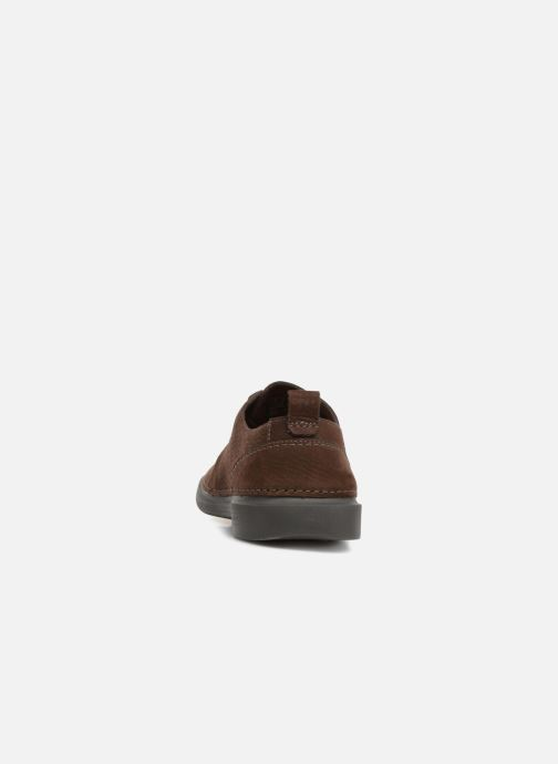 Trainers Clarks Hale Lace Brown view from the right