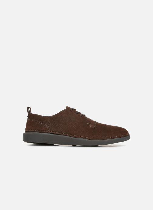 Trainers Clarks Hale Lace Brown back view