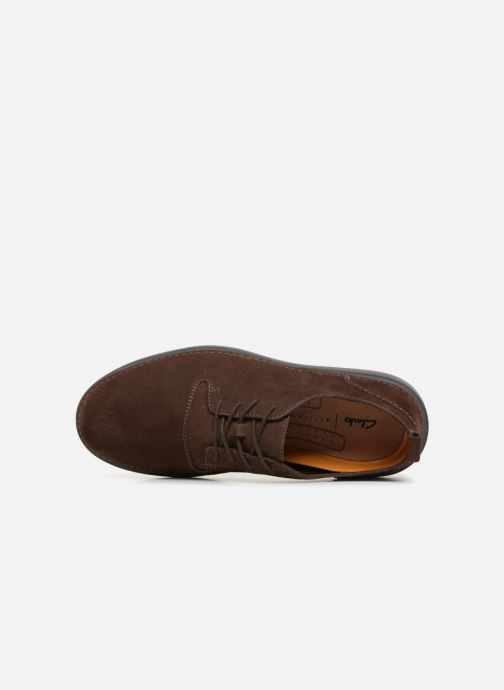 Trainers Clarks Hale Lace Brown view from the left