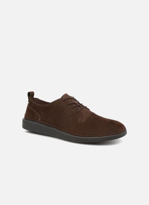 Trainers Clarks Hale Lace Brown detailed view/ Pair view