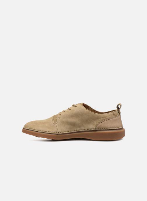 Sneakers Clarks Hale Lace Beige voorkant