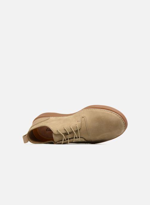 Sneaker Clarks Hale Lace beige ansicht von links
