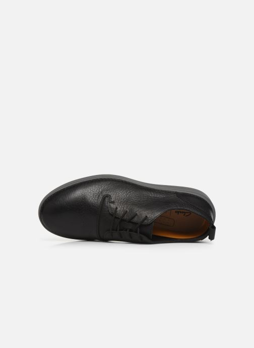 Trainers Clarks Hale Lace Black view from the left