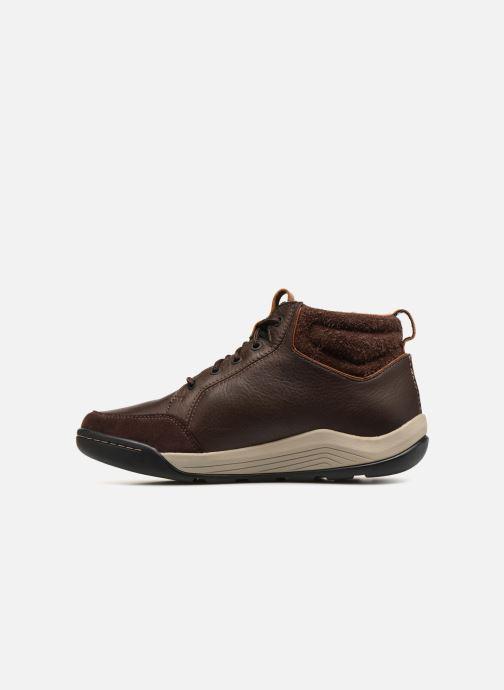 Zapatos con cordones Clarks AshcombeMidGTX Marrón vista de frente