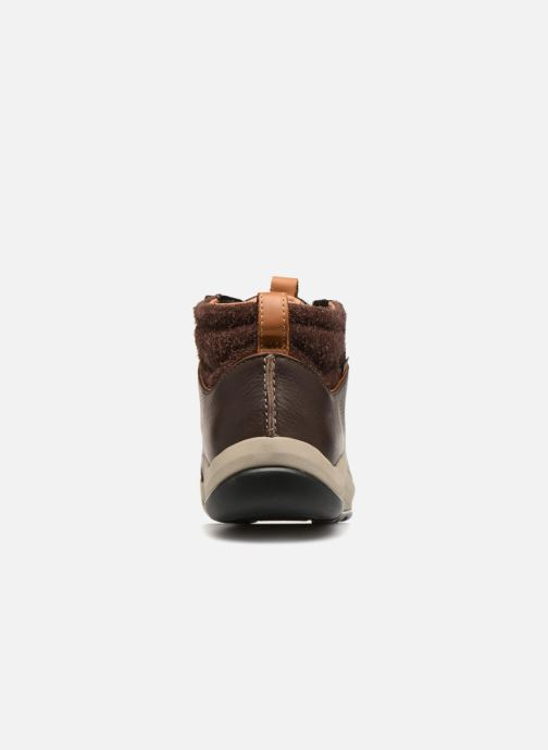 Lace-up shoes Clarks AshcombeMidGTX Brown view from the right
