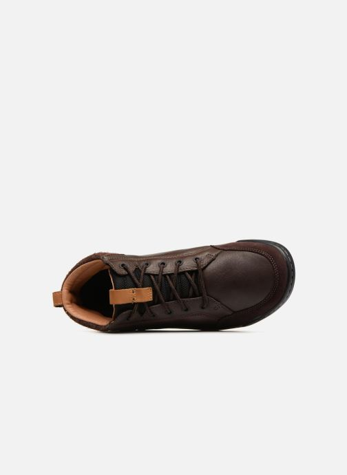 Lace-up shoes Clarks AshcombeMidGTX Brown view from the left