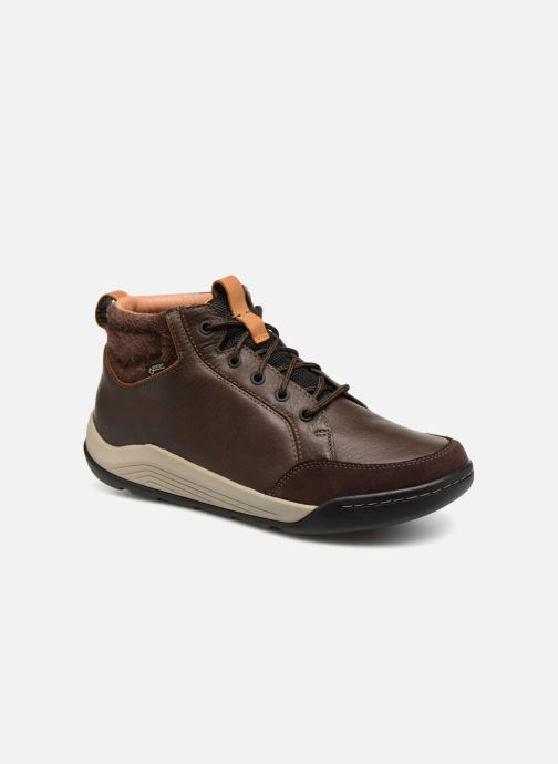 Lace-up shoes Clarks AshcombeMidGTX Brown detailed view/ Pair view