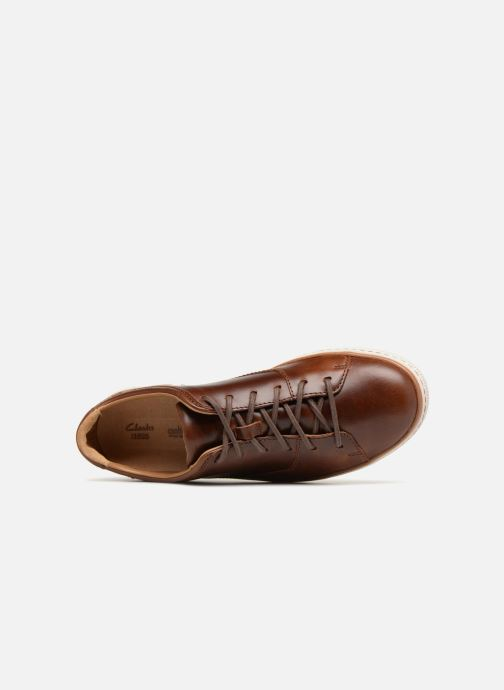 Baskets Clarks Unstructured Norsen Lace Marron vue gauche