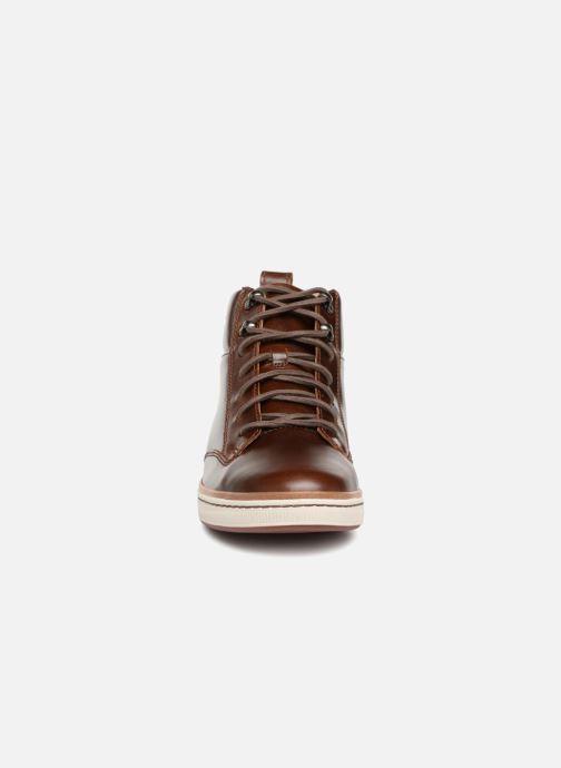 Baskets Clarks Unstructured Norsen Mid Marron vue portées chaussures