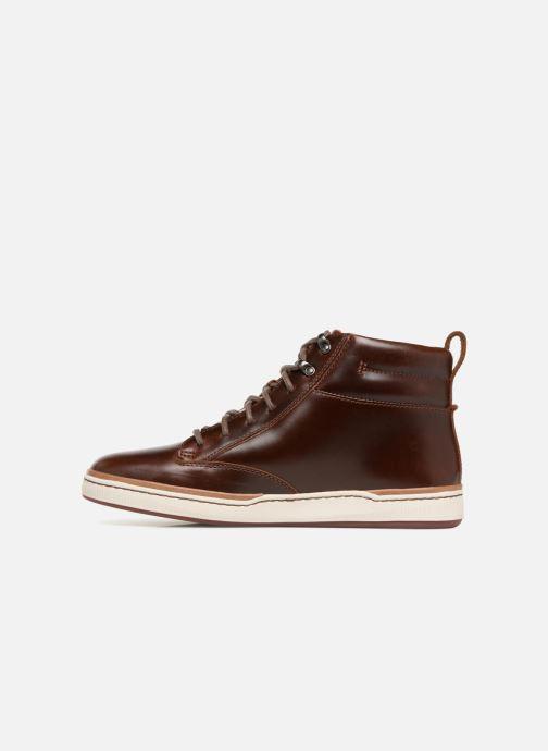 Sneakers Clarks Unstructured Norsen Mid Bruin voorkant