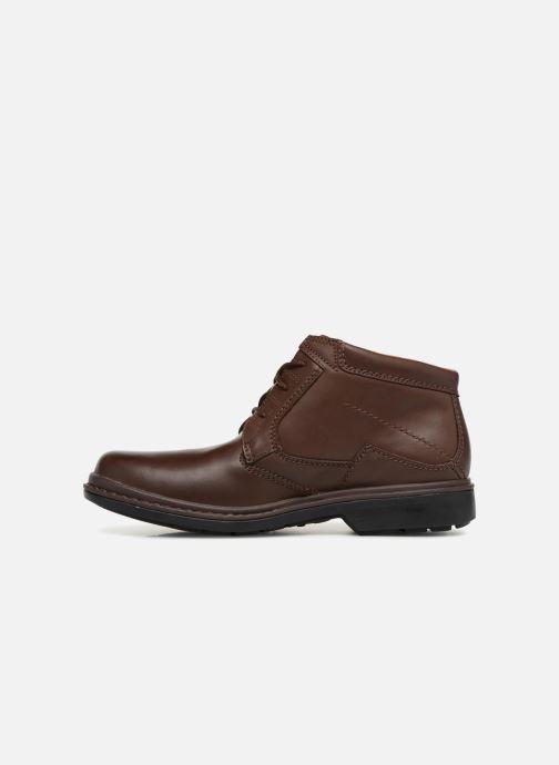 Boots en enkellaarsjes Clarks Unstructured Rockie Hi GTX Bruin voorkant