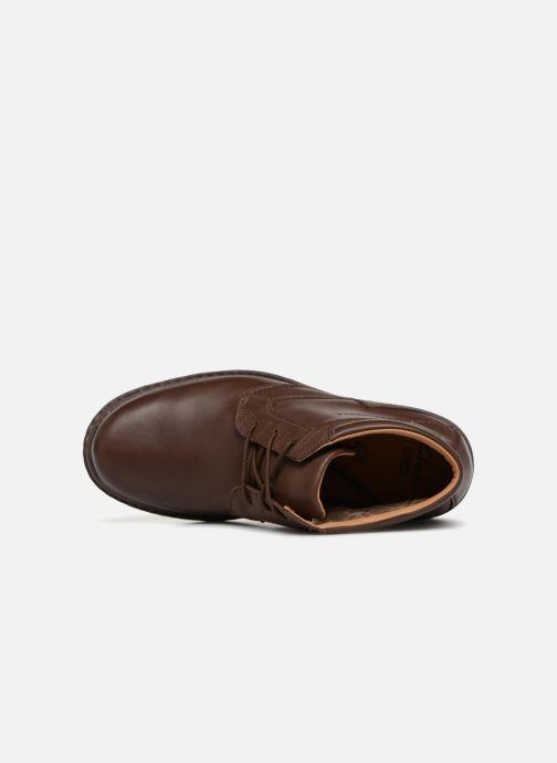 Boots en enkellaarsjes Clarks Unstructured Rockie Hi GTX Bruin links