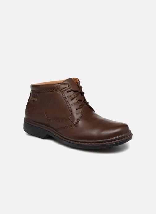 Bottines et boots Clarks Unstructured Rockie Hi GTX Marron vue détail/paire
