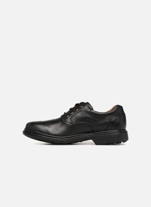 Chaussures à lacets Clarks Unstructured Rockie Lo GTX Noir vue face