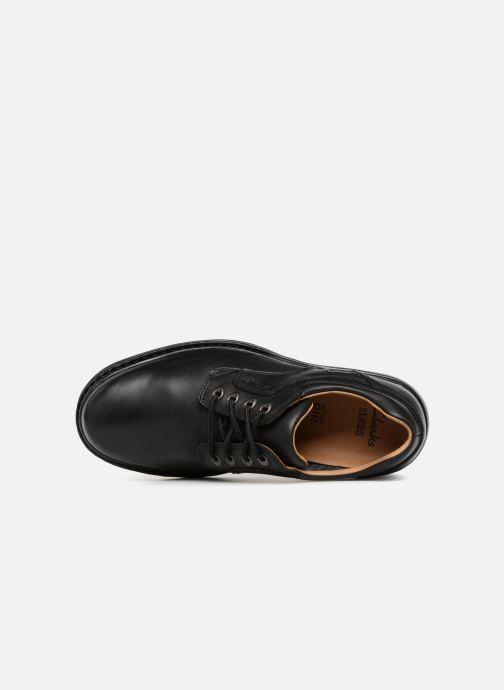 Chaussures à lacets Clarks Unstructured Rockie Lo GTX Noir vue gauche