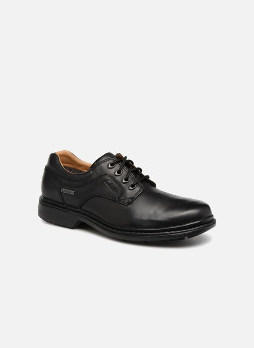Chaussures à lacets Clarks Unstructured Rockie Lo GTX Noir vue détail/paire