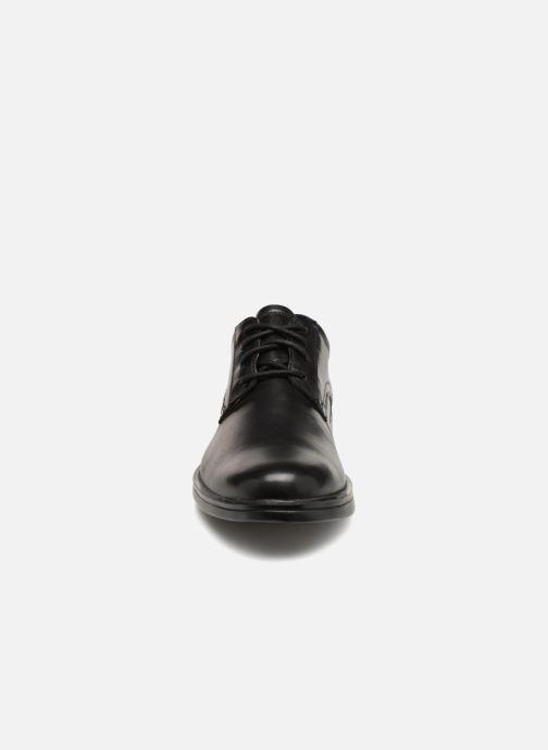 Schnürschuhe Clarks Unstructured Un Aldric Lace schwarz schuhe getragen