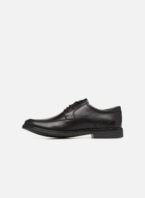 Zapatos con cordones Clarks Unstructured Un Aldric Park Negro vista de frente