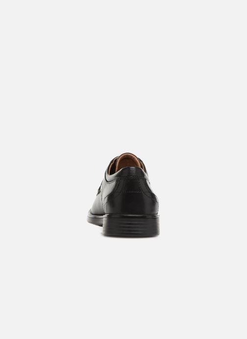 Zapatos con cordones Clarks Unstructured Un Aldric Park Negro vista lateral derecha