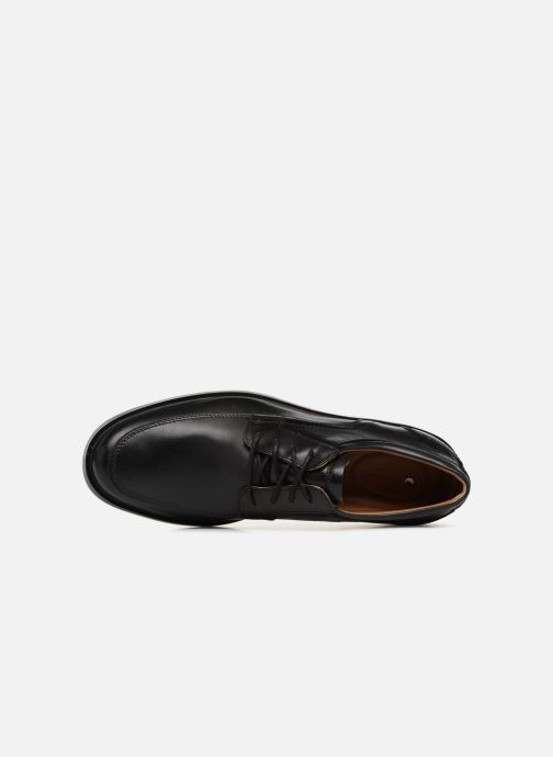 Zapatos con cordones Clarks Unstructured Un Aldric Park Negro vista lateral izquierda