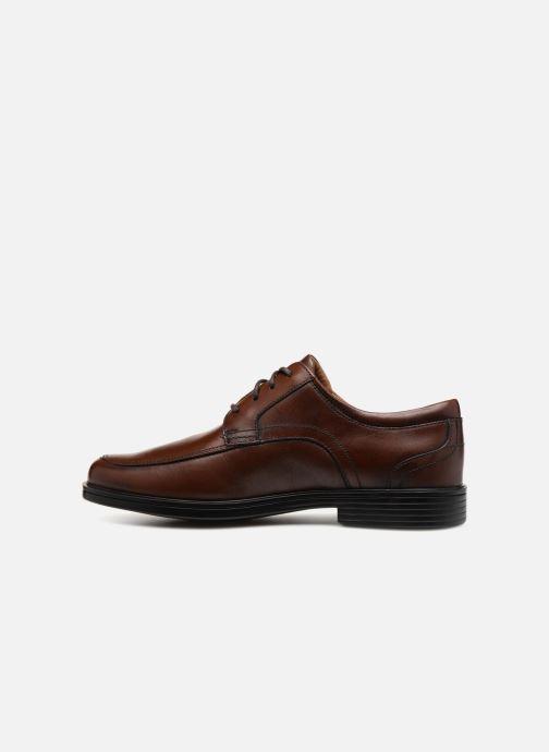 Chaussures à lacets Clarks Unstructured Un Aldric Park Marron vue face