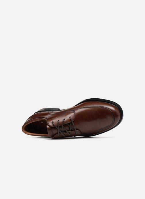 Chaussures à lacets Clarks Unstructured Un Aldric Park Marron vue gauche