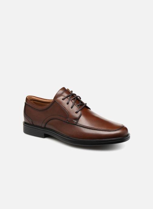 Chaussures à lacets Clarks Unstructured Un Aldric Park Marron vue détail/paire