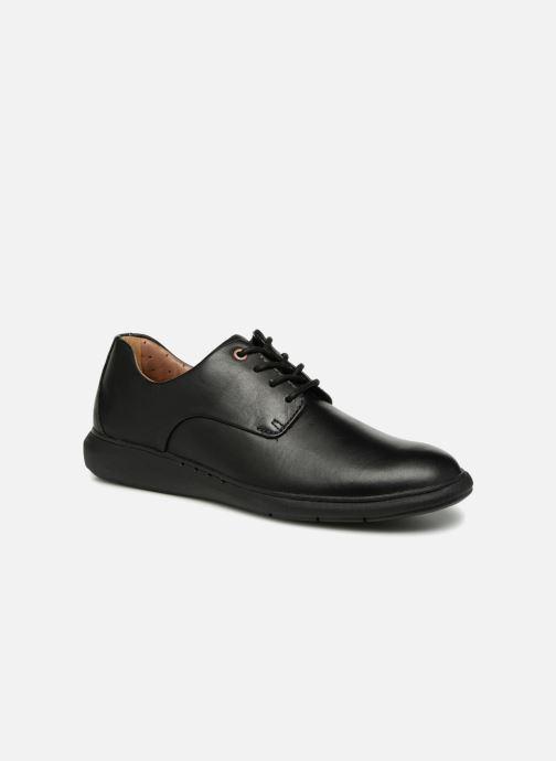 Snøresko Clarks Unstructured Un VoyagePlain Sort detaljeret billede af skoene
