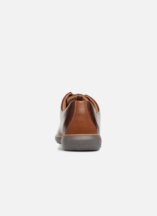 Zapatos con cordones Clarks Unstructured Un VoyagePlain Marrón vista lateral derecha