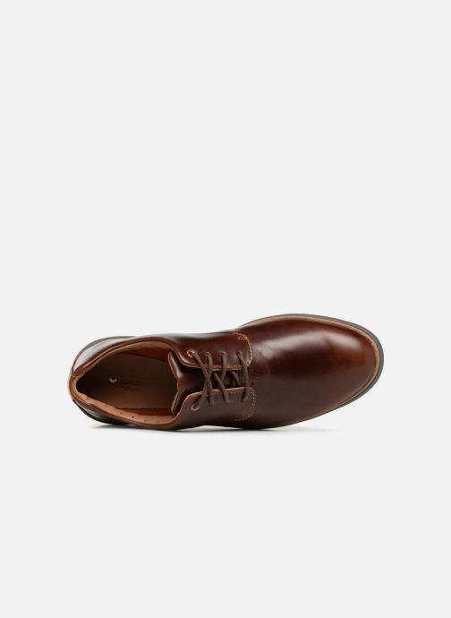 Zapatos con cordones Clarks Unstructured Un VoyagePlain Marrón vista lateral izquierda