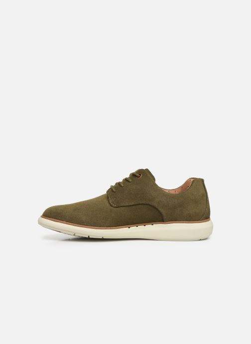 Lace-up shoes Clarks Unstructured Un VoyagePlain Green front view