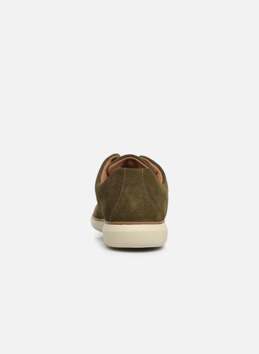 Zapatos con cordones Clarks Unstructured Un VoyagePlain Verde vista lateral derecha