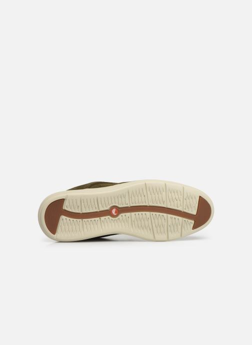 Chaussures à lacets Clarks Unstructured Un VoyagePlain Vert vue haut
