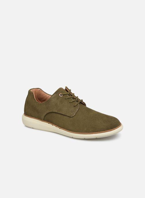Chaussures à lacets Clarks Unstructured Un VoyagePlain Vert vue détail/paire