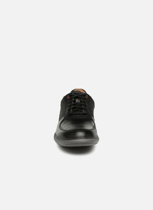 Schnürschuhe Clarks Unstructured Un Voyage Lace schwarz schuhe getragen