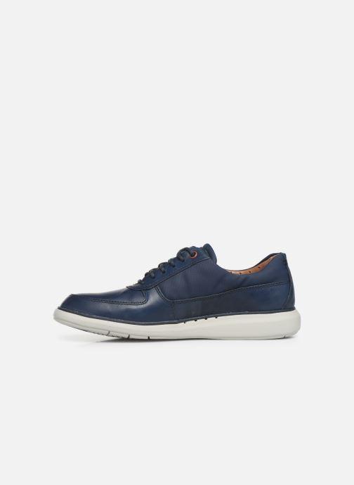 Zapatos con cordones Clarks Unstructured Un Voyage Lace Azul vista de frente