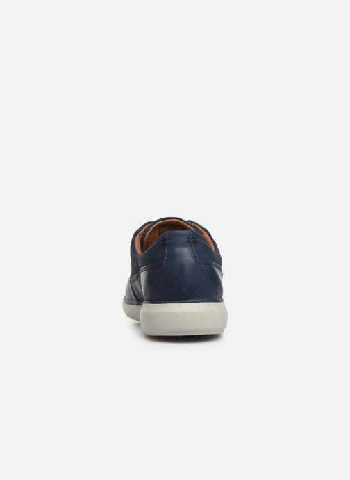 Zapatos con cordones Clarks Unstructured Un Voyage Lace Azul vista lateral derecha