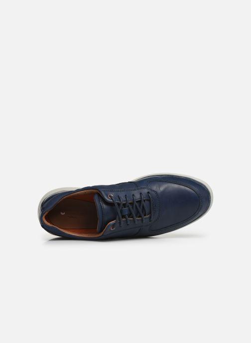 Zapatos con cordones Clarks Unstructured Un Voyage Lace Azul vista lateral izquierda