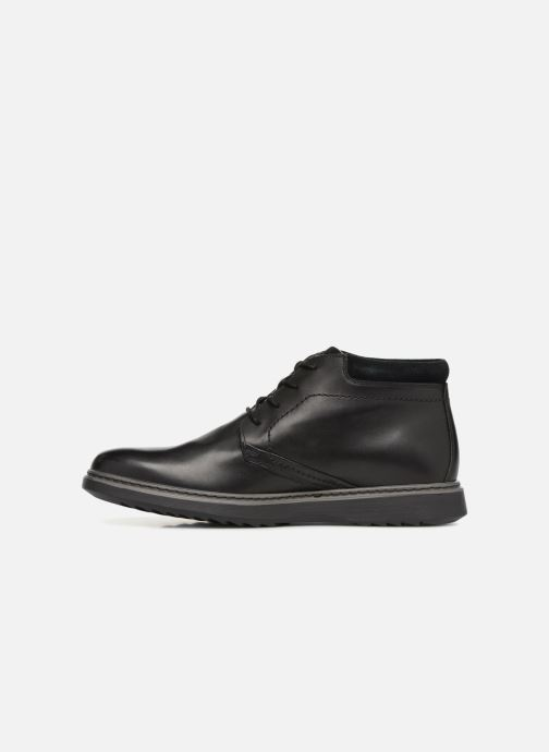 Ankle boots Clarks Unstructured Un Geo Mid GTX Black front view