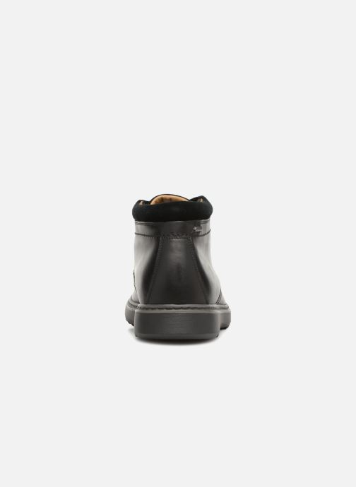 Ankle boots Clarks Unstructured Un Geo Mid GTX Black view from the right