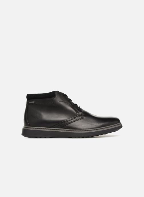 Ankle boots Clarks Unstructured Un Geo Mid GTX Black back view