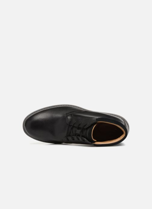 Ankle boots Clarks Unstructured Un Geo Mid GTX Black view from the left