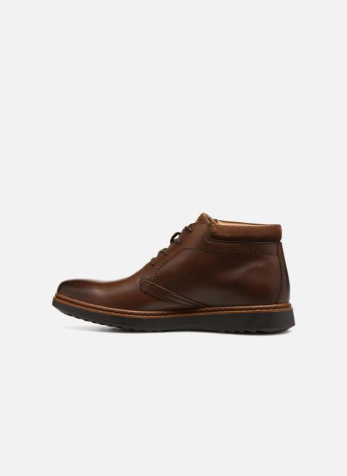 Ankle boots Clarks Unstructured Un Geo Mid GTX Brown front view
